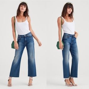 LUXE VINTAGE CROPPED ALEXA WITH CUT OFF HEM Jeans